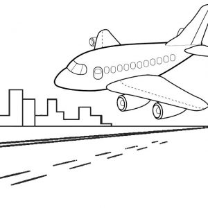 Airplane Landing Coloring Pages for Kids