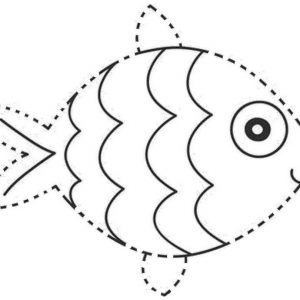 Awesome Fish Cartoon Connect Dots
