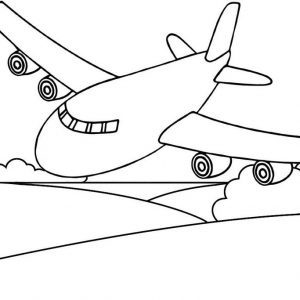 Easy and Awesome Airplane Coloring Page for Kids