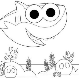 10 Fancy Baby Shark Coloring Pages with Scenes for Little ...