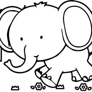 Fun Elephant Cartoon Coloring Page