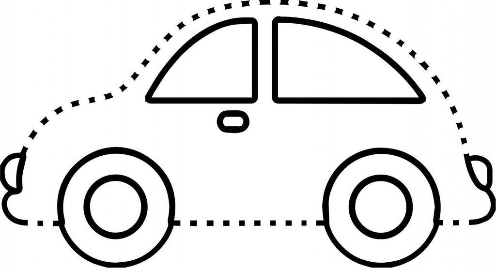 Fun detail dot to dot car picture