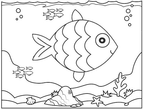 Funniest Fish Coloring Page