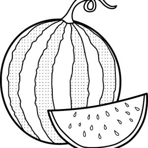 Seedless Watermelon Coloring Page