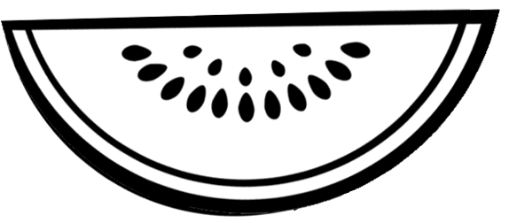 Slice of Watermelon Fruit Coloring Page