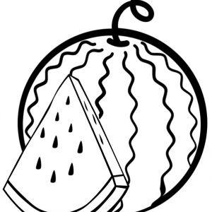 Sweet Watermelon Coloring Page