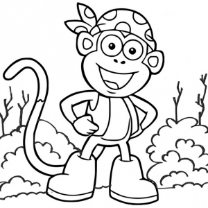 Cool Teenage Monkey Coloring Page