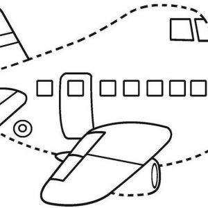 Passenger Airplane Cartoon Connect the Dots