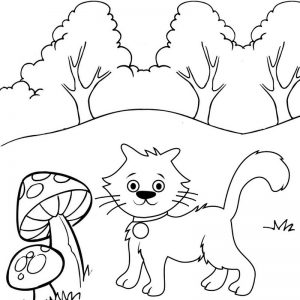 Wildcat Cartoon Coloring Page
