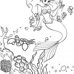 Wonderful Little Mermaid Coloring Page