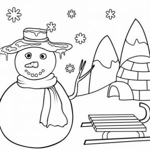 cute snowman coloring page for kids