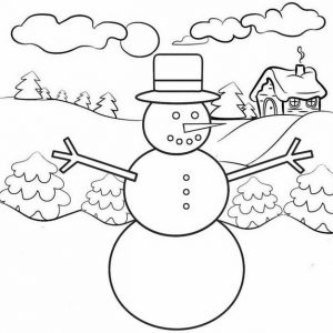 winter snowman coloring page from kenzy