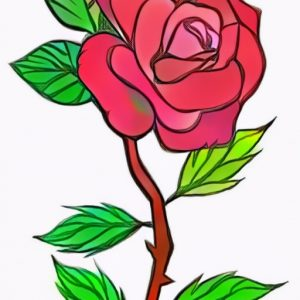 Rose coloring work from Rezha