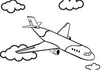 Airplane Above Clouds Coloring Page