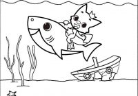 Baby Shark Underwater Coloring Page