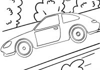 Best Car Driving on the Highway Coloring Page