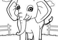 Best Detail Elephant Coloring Page for kids