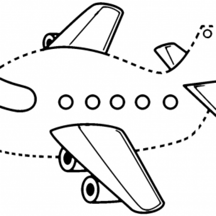 Permalink to 8 Simple and Funny Airplane Connect The Dots