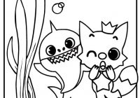 Best Pinkfong Baby Shark Coloring Page with Happy