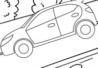 Car Riding Fast on the Road Coloring Page