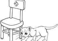 Cat Friendly Home Coloring Page