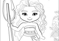 Cute Chibi Princess Moana Coloring Page