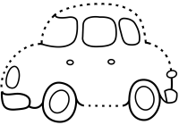 Drawing Car Cartoon Connect the Dots