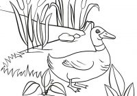 Fun Duck Walking Coloring Page