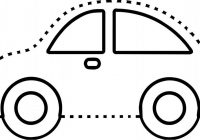 Fun detail dot to dot car picture