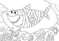 Mummy Shark Coloring Page of Baby Shark