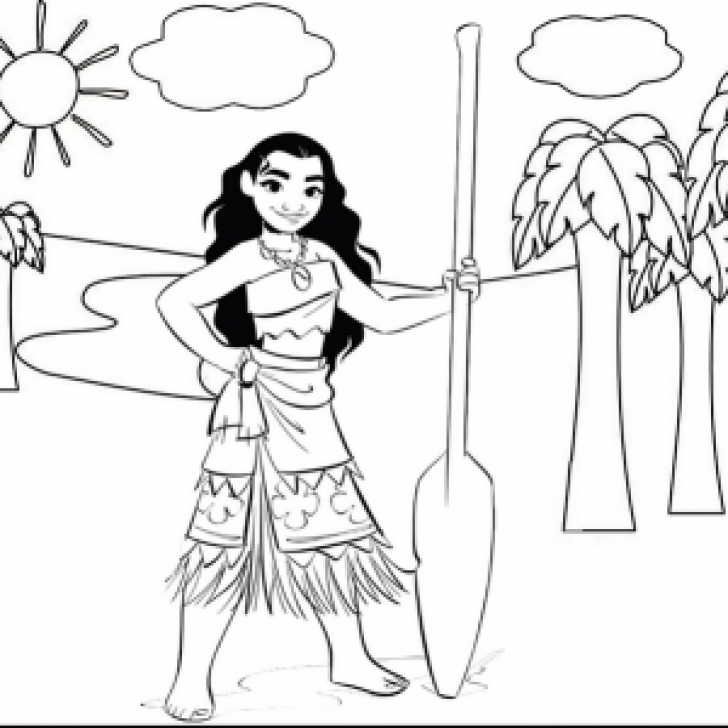 Permalink to 9 Magnificent Moana Coloring Pages for Your Daughter