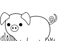 Sad and Mum Pig Cartoon Coloring Page