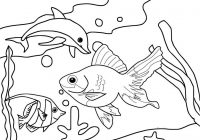 Sea Life Fish Coloring Page for Kids