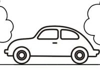 Simple Car Coloring Page Easy to Color