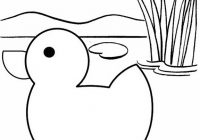 Simple Duck Cartoon Coloring Page