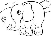 Top Fun Elephant Cartoon Coloring Page