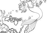 Wonderful Little Mermaid Coloring Page