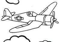 best airplane in the sky coloring pages